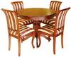 Обеденная зона, стол «Альт 9», стул «Сибарит 5»